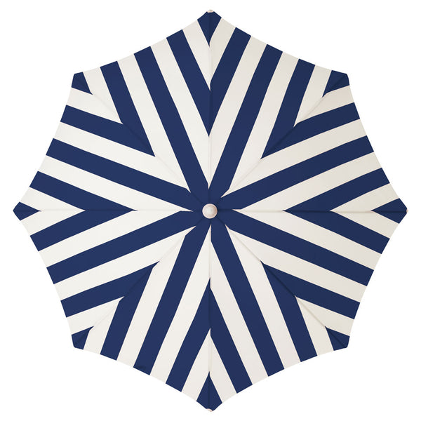 Business & Pleasure - Holiday Beach Umbrella - Navy Stripe - Boatshed 7 The Original Beach Co.