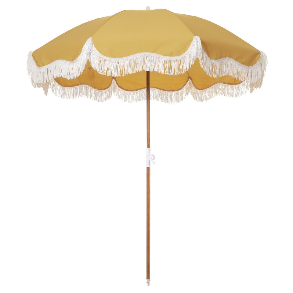Business & Pleasure - Holiday Beach Umbrella - Vintage Gold - Boatshed 7 The Original Beach Co.