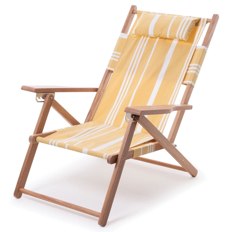 Business & Pleasure - Tommy Chair - Vintage Yellow Stripe - Boatshed 7 The Original Beach Co.