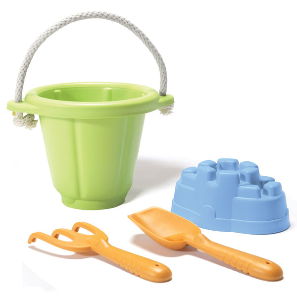 Green Toys  - Sand Play Set 4 pce green - Boatshed 7 The Original Beach Co.