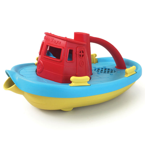 Green Toys - Tug Boat - red - Boatshed 7 The Original Beach Co.