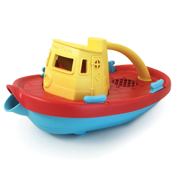 Green Toys - Tug Boat - yellow - Boatshed 7 The Original Beach Co.