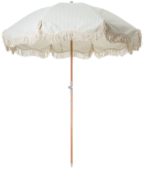 Business & Pleasure - Premium Beach Umbrella - Laurens Sage - Boatshed 7 The Original Beach Co.