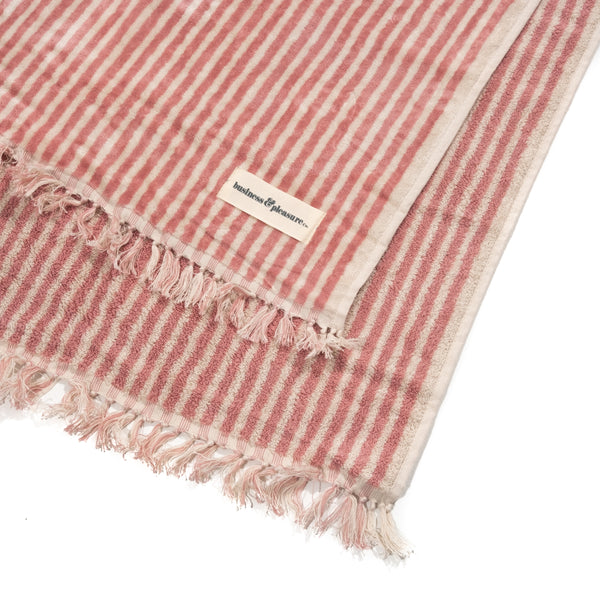 Business & Pleasure - Beach Towel - Lauren's Pink Stripe