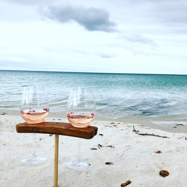 Winestains | Travel Beach Stake | Travel Friendly wine glass holder