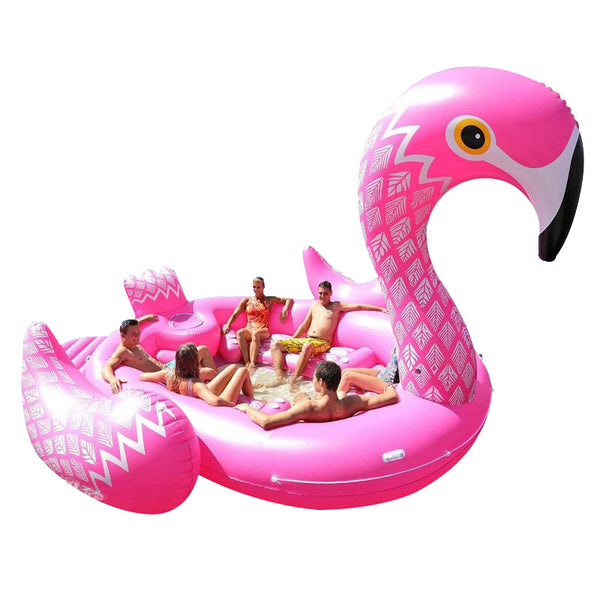 Giant Flamingo - 6 person inflatable - Boatshed 7 The Original Beach Co.