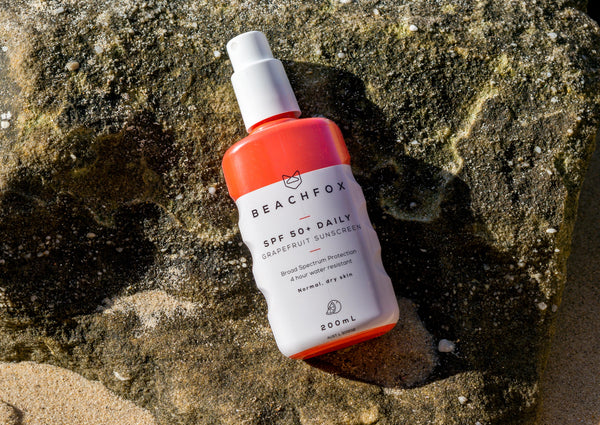 BEACHFOX Invisible Sunscreen - SPF50 200ml - Grapefruit - Boatshed 7 The Original Beach Co.