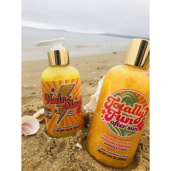 Sunshine & Glitter Hair Slayer  - Glitter Hair Detangler - Boatshed 7 The Original Beach Co.