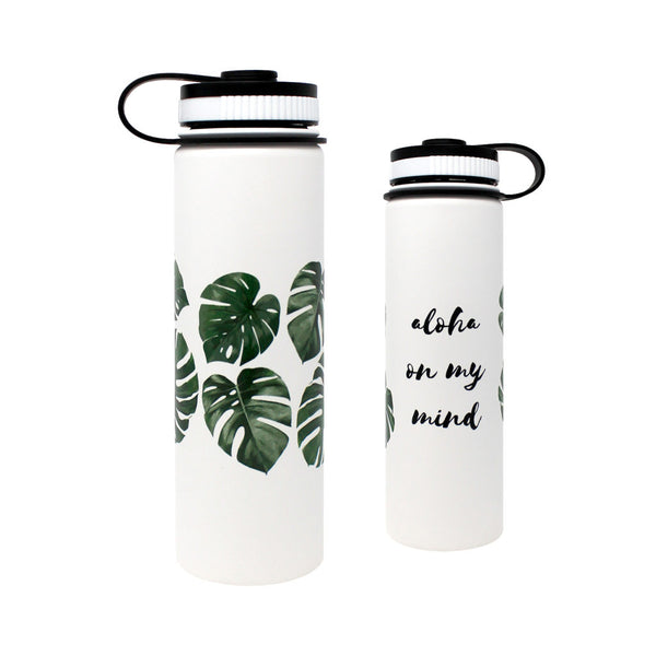 CocoNene - Water Bottle -  Monstera - 1.3 litre - Boatshed 7 The Original Beach Co.