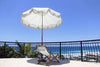 Business & Pleasure - Patio Umbrella - Antique White - Boatshed 7 The Original Beach Co.