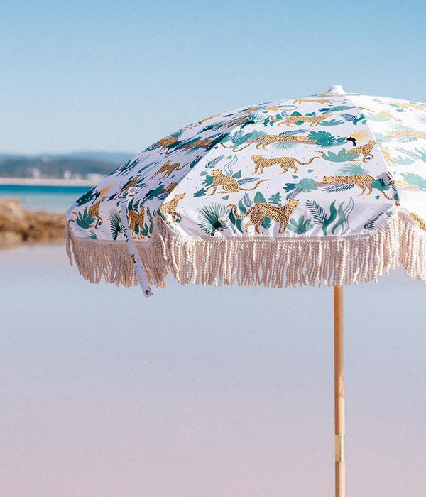 Bamboo & Bungalow - Premium Beach Umbrella- Swinging Safari