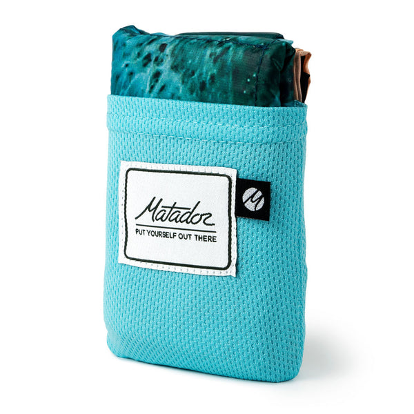 Matador - Large Pocket Beach Blanket - Ocean Print