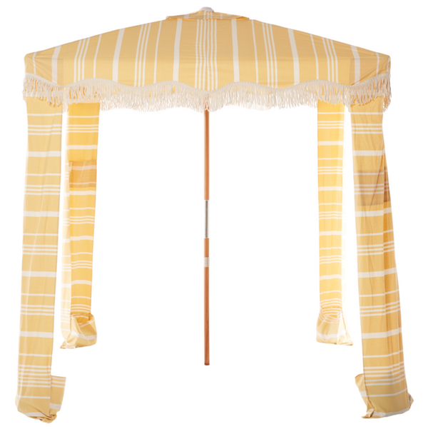 Business & Pleasure - Premium Beach CABANA - VINTAGE YELLOW STRIPE
