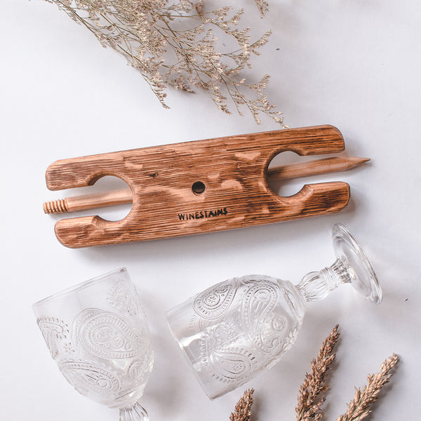 Winestains | Beach Stake | Travel Friendly wine glass holder - Boatshed 7 The Original Beach Co.
