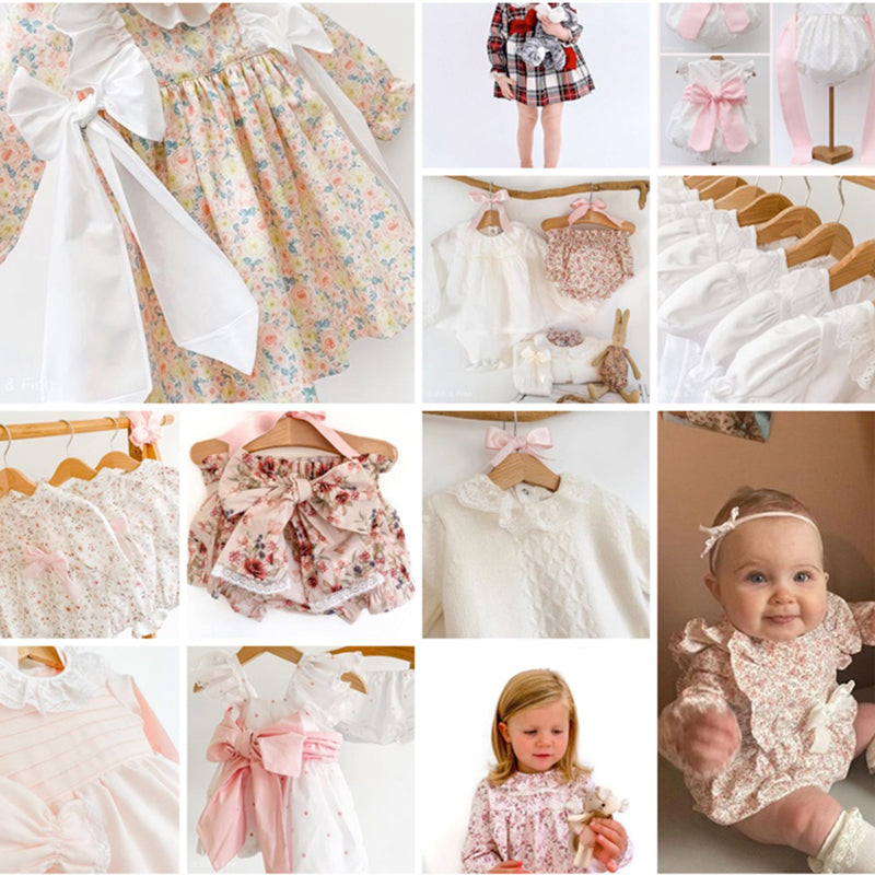 fifi & finn instagram screenshot of traditional baby clothes
