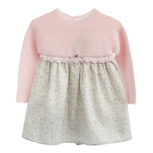 wedoble half knit baby dress, made in portugal
