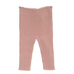 wedoble wool baby leggings pink, made in portugal