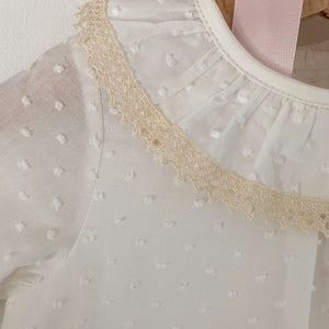 plumeti frill collar baby blouse, made in portugal