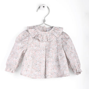 wedoble grey floral baby blouse