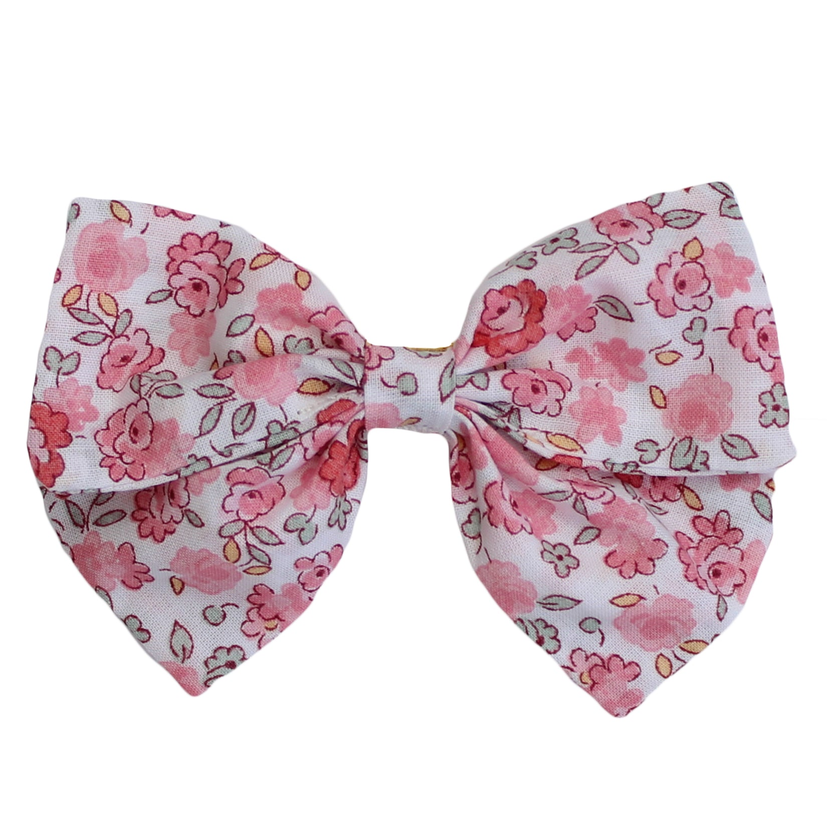 floral print organic cotton spanish baby hair bow