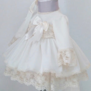ivory velvet spanish puffball dress
