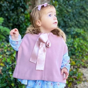 Girls Cape - Dusty Pink