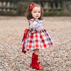 'Noelle' Hand Smocked Puffball Dress