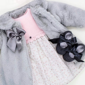 wedoble half knit baby girl dress
