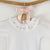 embroidered frill collar baby bodysuit, made in portugal