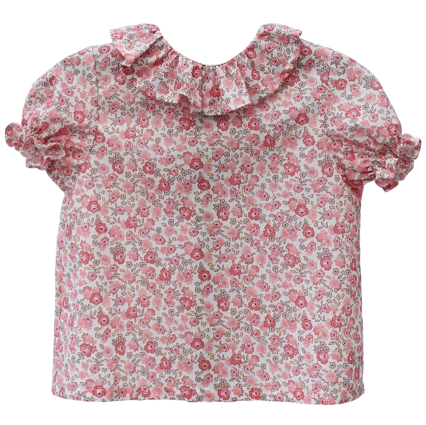 floral print spanish baby blouse with frill collar