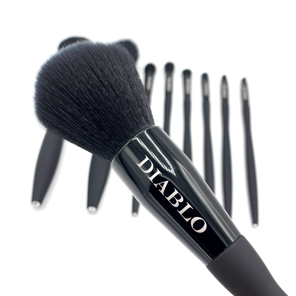 Nero 9-Piece Black Brush Set | Diablo Cosmetics