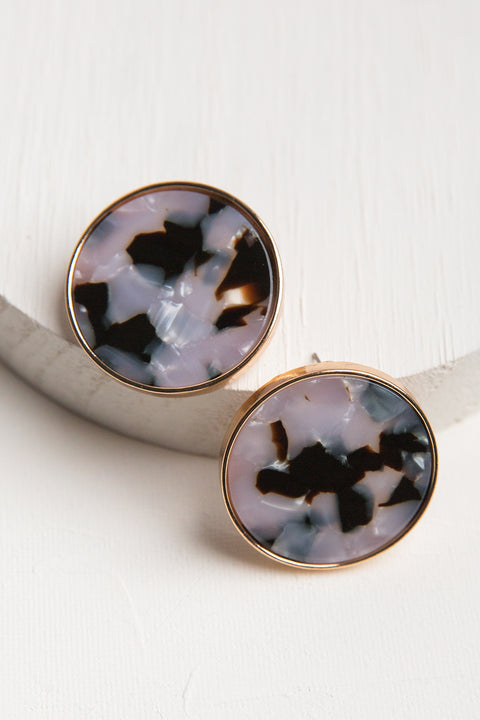 Mia Circle Resin Earrings