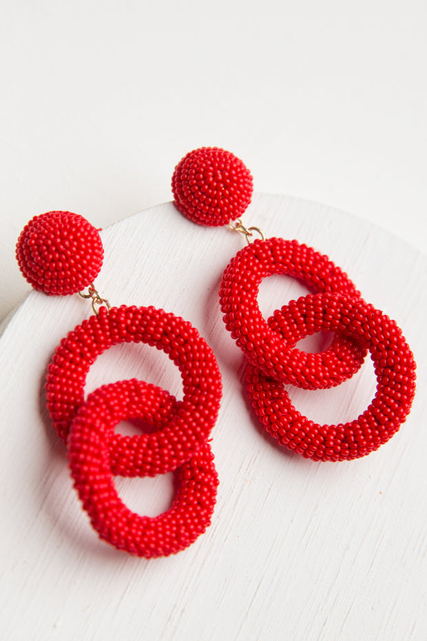Bora Beaded Drop Earrings
