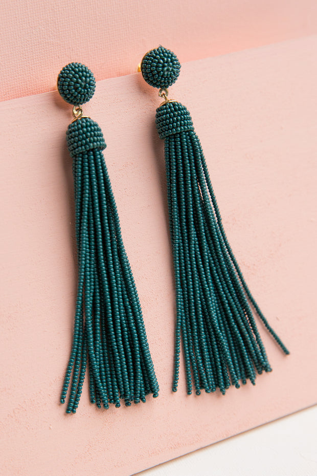 Calypso Beaded Tassel Earrings