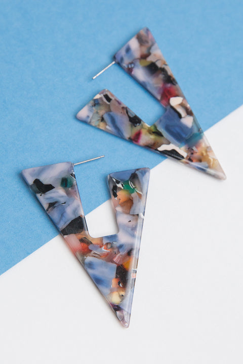 Spectrum Triangle Earrings