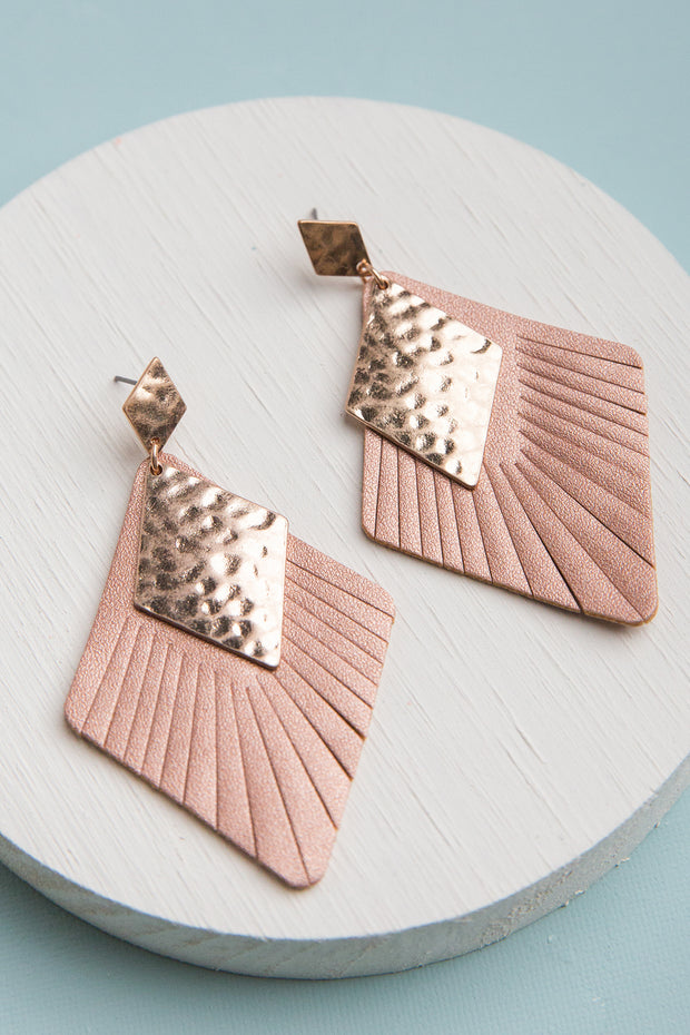 Rhea Vegan Leather Earrings