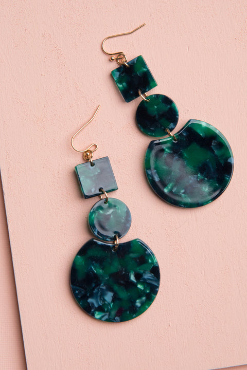 Ivy Resin Dangle Earrings