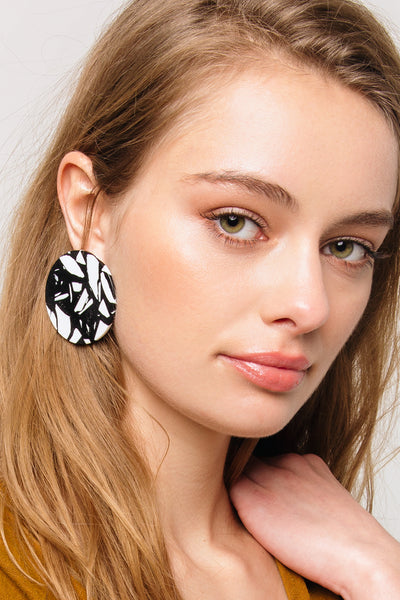 Abstract Art Circle Earrings