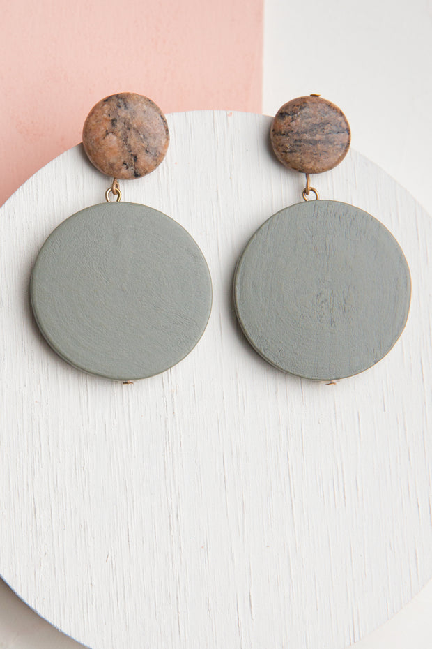 Zola Wood Stone Earrings