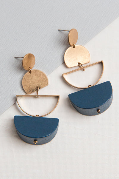 Sadie Metal Drop Earrings