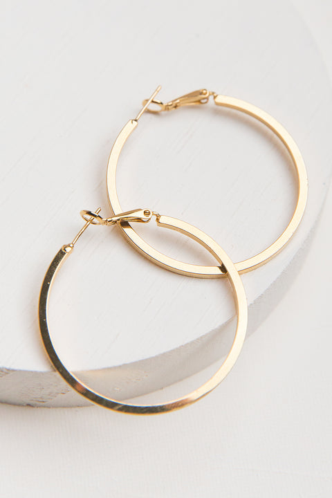 Aura 14k Gold Plated Hoop Earrings