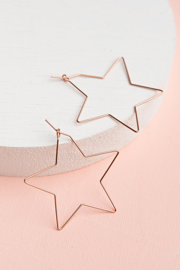 Starlight 14k Rose Gold Plated Earrings