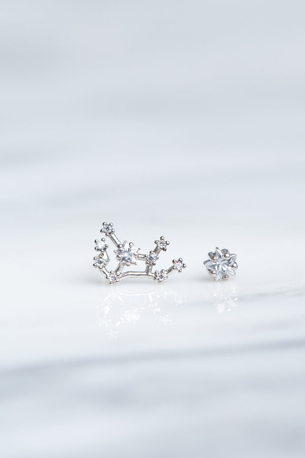 Virgo 24k White Gold Plated Studs