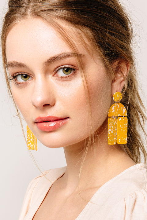Sunshine Metal Dangle Earrings