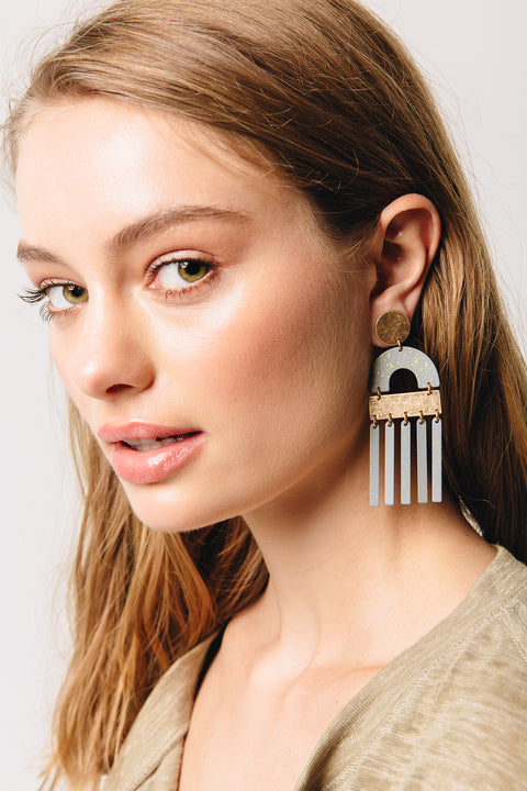 Harper Metal Dangle Earrings