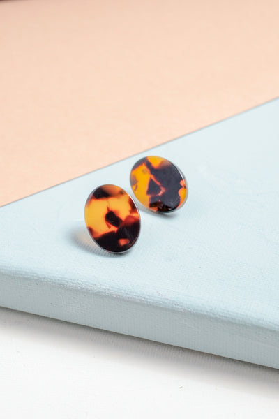 Everyday Oval Resin Studs
