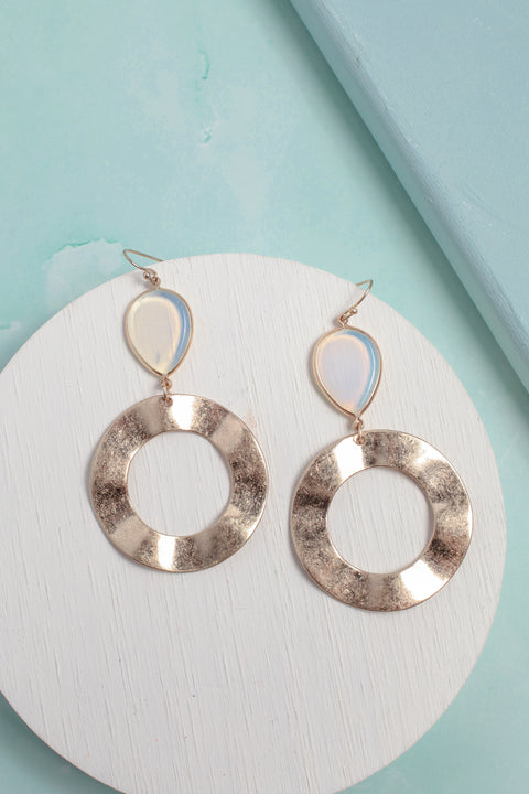 Lustrous Nautral Stone Earrings