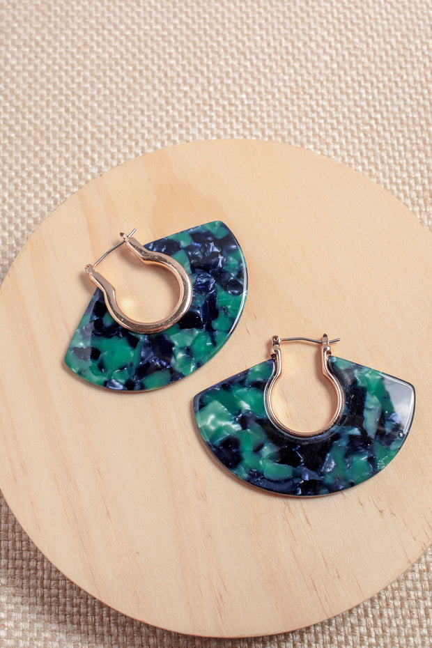 Verdi Resin Fan Earrings