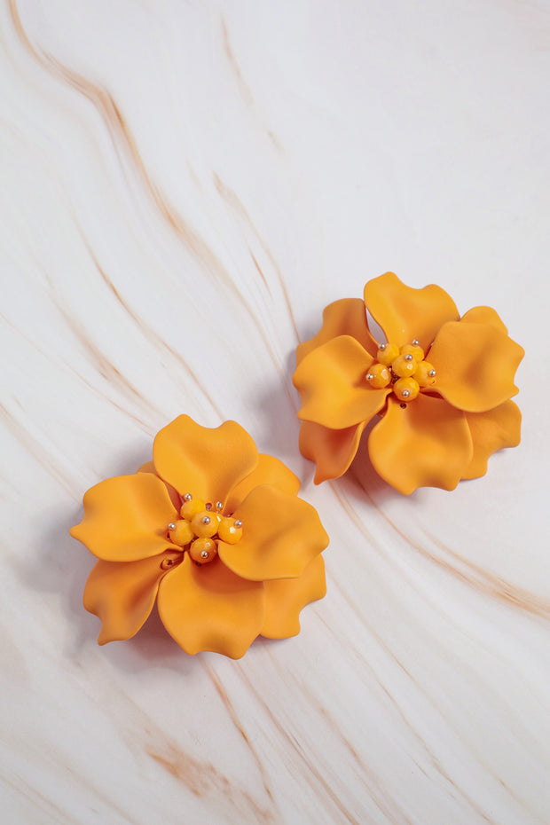 Marigold Floral Earrings