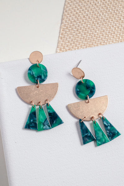 Juniper Geo Resin Earrings